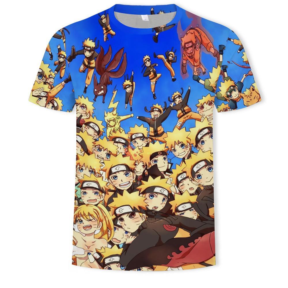 mensNaruto 3d camiseta impresa