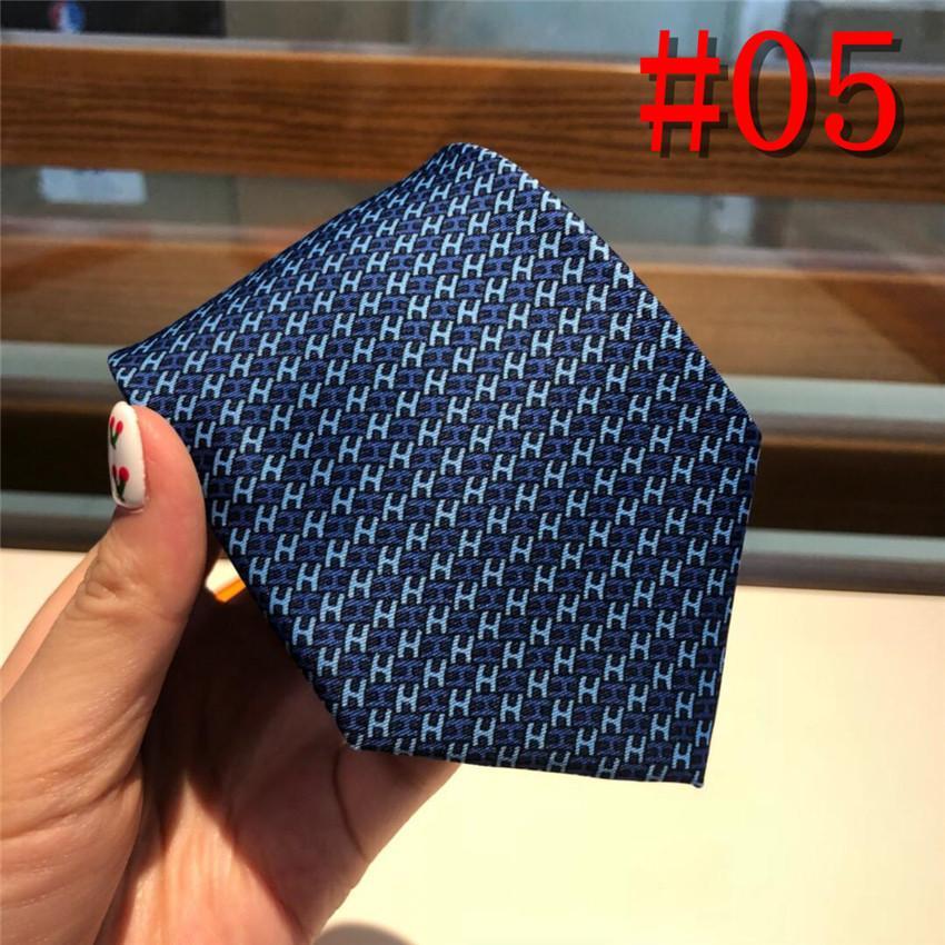 Luxuury festa casual magro gravata gravata Moda mens meninos clássicos letras do Bordado azul preto vermelho padrão