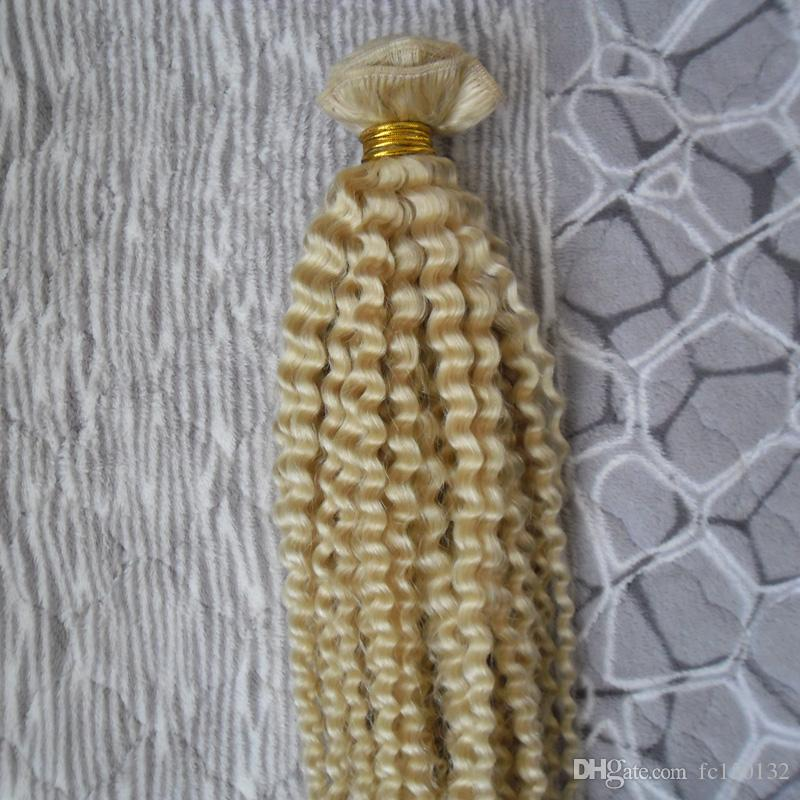 Malaysian Kinky Curly Weave Human Hair Extensions 4B 4C Virgin Hair 1 Bundles 613 10-24inch