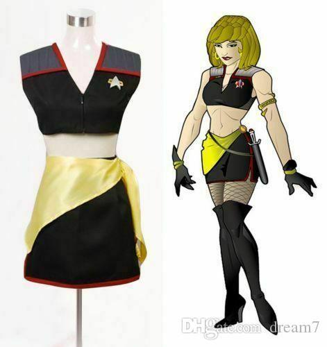 Star Trek Mirror Mirror Female Uniform Dress costume cosplay adulti su ordine