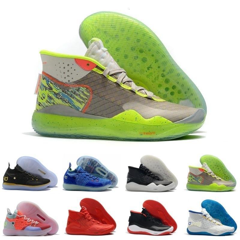 Klasikler değerli oyuncu Kevin Durant KD 12 11 Yıldönümü Üniversitesi 12s 11s Oreo Erkekler Basketbol ABD Elite KD12 EYBL Çok renkli Spor Spor ayakkabılar