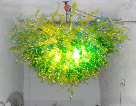 Cristal moderno Personalizado Murano De Vidro Pendurado LED Lightings Grande Candelabro para Decoração de Casa