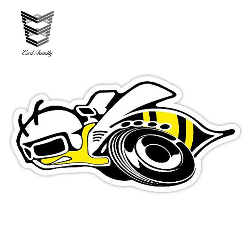 13cm X 6,6 centimetri Car Sticker Super Bee decalcomania della personalità Car Styling animali decalcomania del vinile Graphic adesivi impermeabili