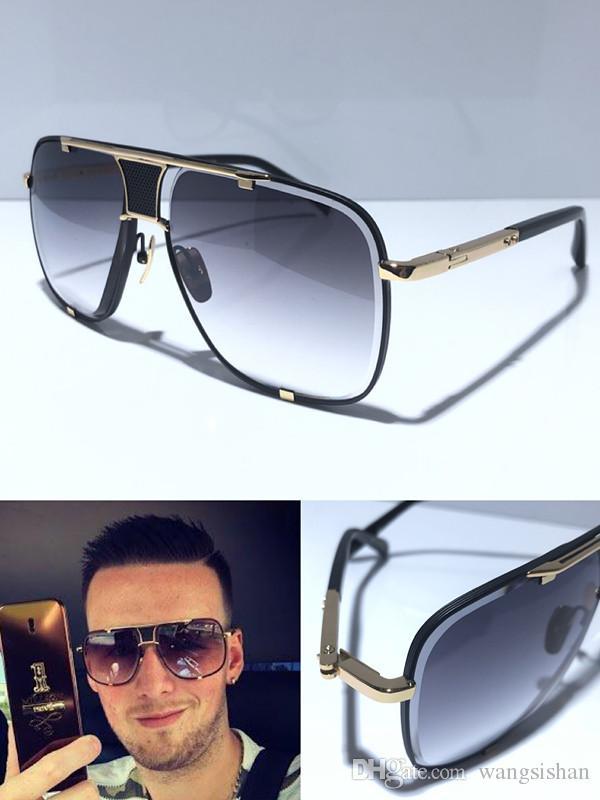 MACH الكلاسيكية خمسة النظارات الشمسية الرجال خمر مصمم المعادن الاسلوب المناسب النظارات في الهواء الطلق إطار مربع UV 400 مع عدسة حالة أعلى جودة