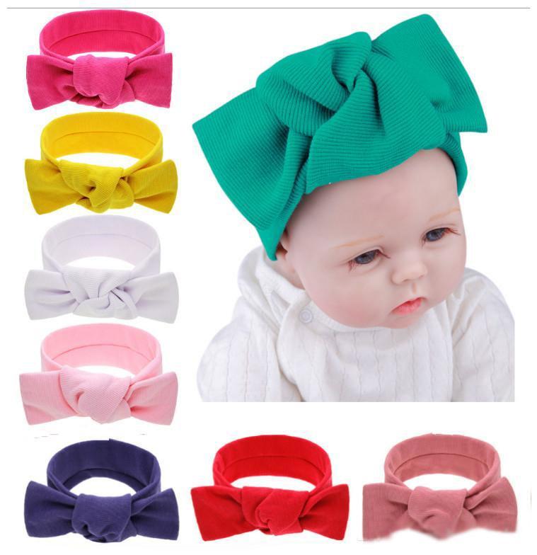 Winter Baby Turban Knitted bunny ear Headbands Fashion protect Crochet Ear Headwear Girls Hair Accessories infant Photograph props