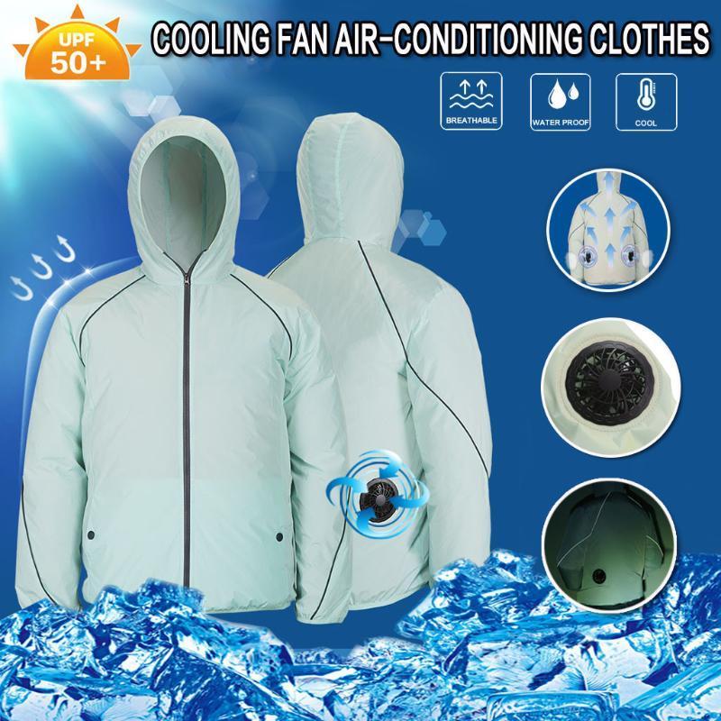 Yaz Ceket Plus Size Kadınlar Erkekler Açık Klimalı Giyim Güneş çarpması Fan Servis Tarım Meşgul Workwear Soğutma