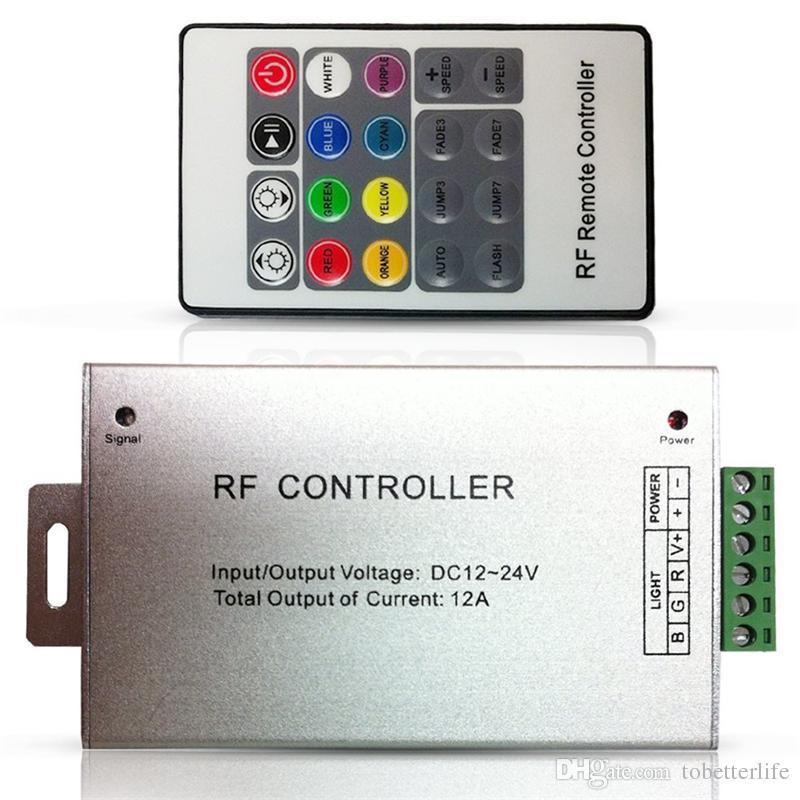 قاد DC12V-24V 12A اللاسلكية RF التحكم عن بعد 20 RGB مفتاح تحكم أدى لSMD 5050 3528 LED قطاع أضواء وحدات