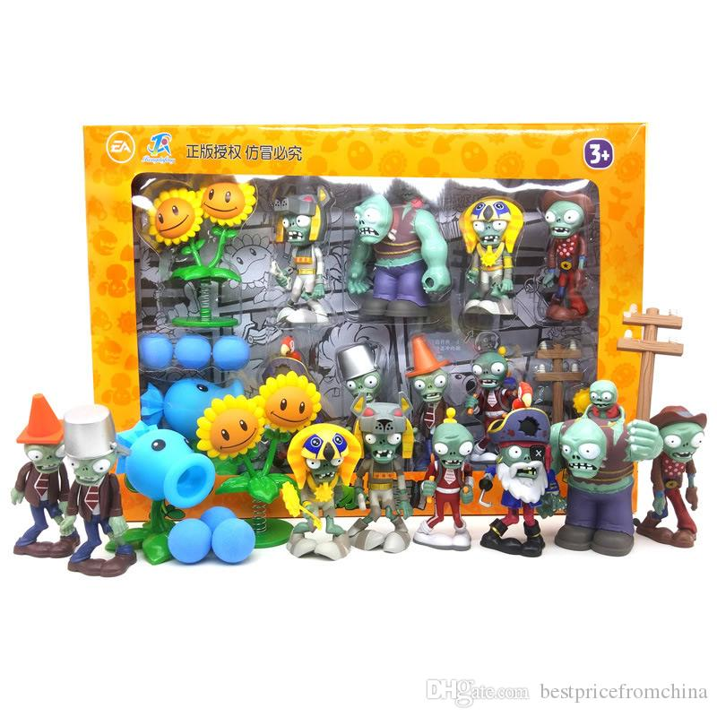 Plants vs Zombies Action Figure Toys Shooting Dolls Gargantuar 10-in-1 Set in Gift Box