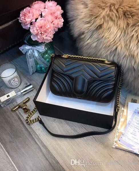 bags leather fashion love V wave pattern shoulder bag shoulder bag chain handbag Messenger bag purse ladies shopping