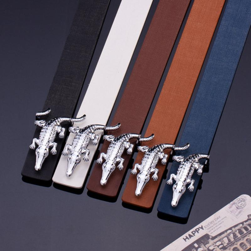 2019 brand silver crocodile alloy buckle belt top real leather belts new Belt designer belts luxury belts for men best gift choice
