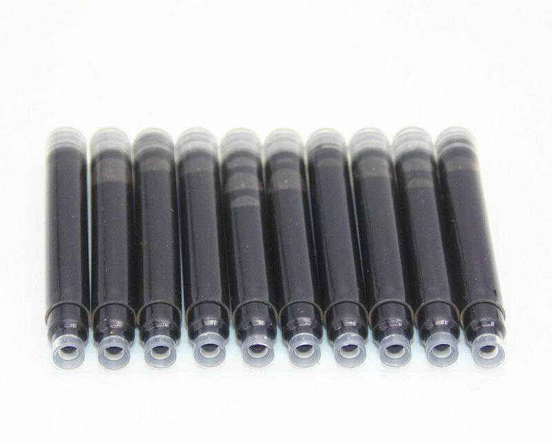 10 Ad Tek Mavi Siyah Mürekkep Standart Kartuşu Yedekler Dolma Kalem Mürekkep Kartuşu Yedekler Ofis Okul Malzemeleri için