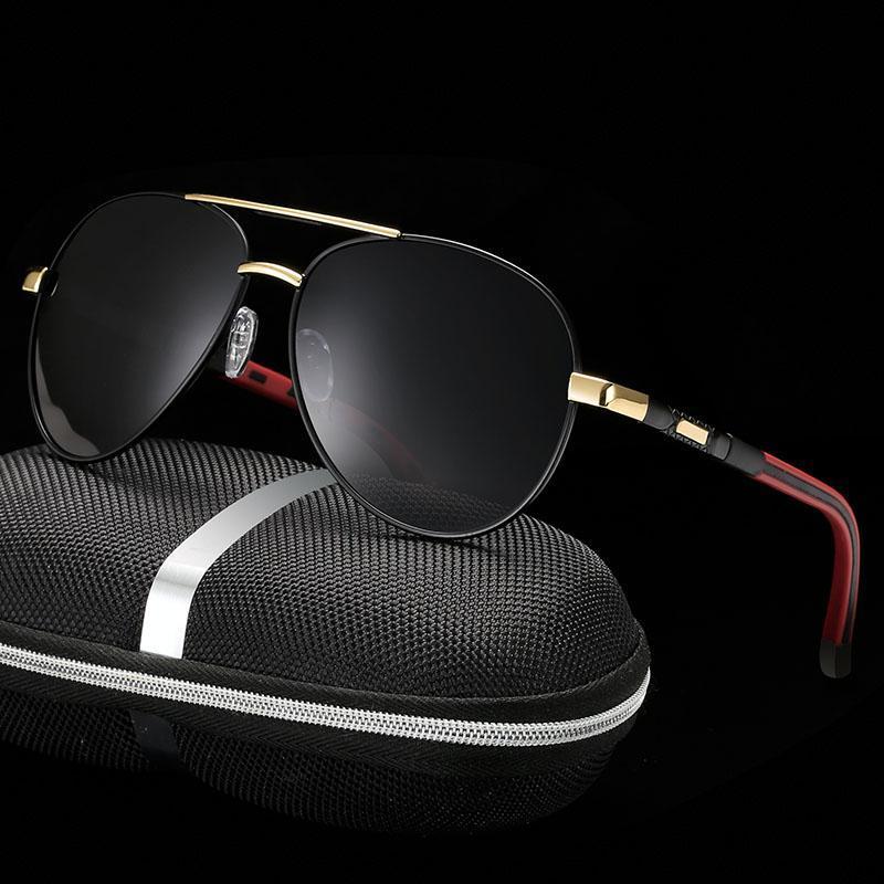 Marka Tasarım Polarize Güneş Gözlüğü Klasik Erkekler Metal Sürüş Güneş Gözlükleri Erkek Kaplama Sunglass UV400 Shades gafas de sol