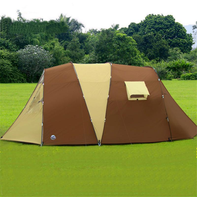 500*280*195 Large Camping Tents 5-8 Person Two Bedrooms Climbing Outdoor Tents Waterproof Double Layer Camping Hiking Tent