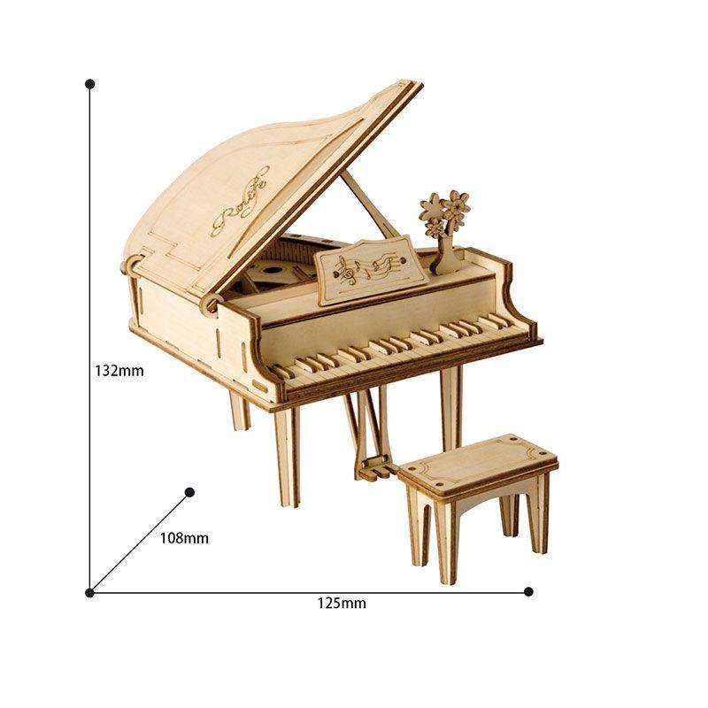 DIY بيانو ألعاب 3D لغز لعبة خشبية الجمعية نموذج وود كرافت أطقم مكتب ديكور للأطفال الأطفال TG402