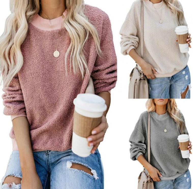Al por mayor de las mujeres del diseñador sudaderas con capucha de la nueva manera para las sudaderas con capucha camisetas de las mujeres mujeres ocasionales vestir de las tapas 6 colores del tamaño S-2XL