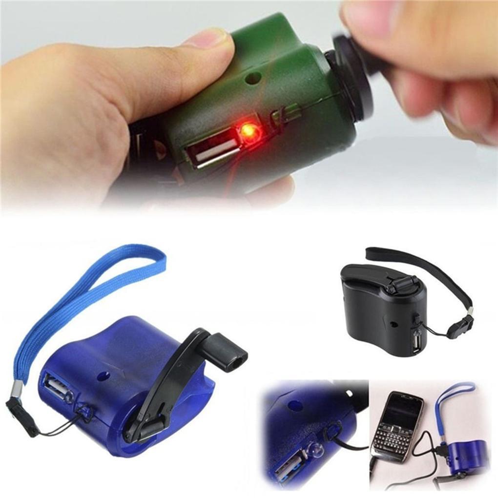 هاتف محمول USB اليد الساعد شاحن للهاتف الطوارئ MP4 المحمول في الهواء الطلق يدوي التيار الكهربائي