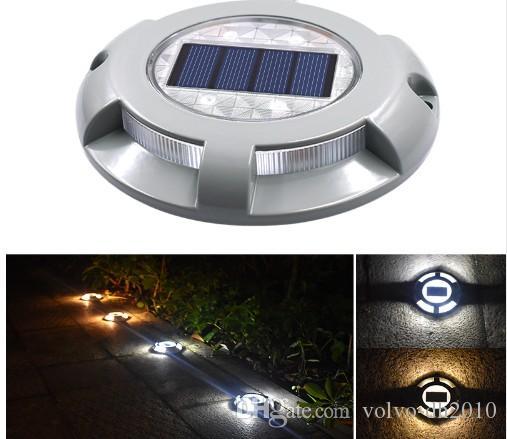 태양 LED 도크 경로 갑판 도로 스터드 메이커 라이트 방수 보안 조명 램프 야외 차도 경로 야드 가든 스텝 램프 LLFA