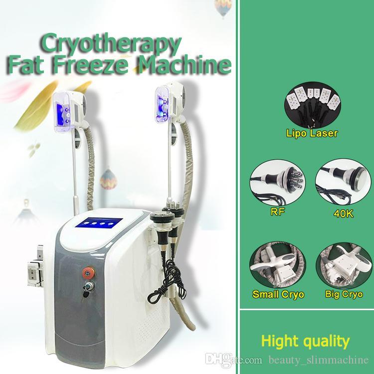 Precio de fábrica !!! Criolipólisis grasa que adelgaza la máquina de congelación crioterapia Ultrasonido RF liposucción Lipo láser máquina para el uso del salón