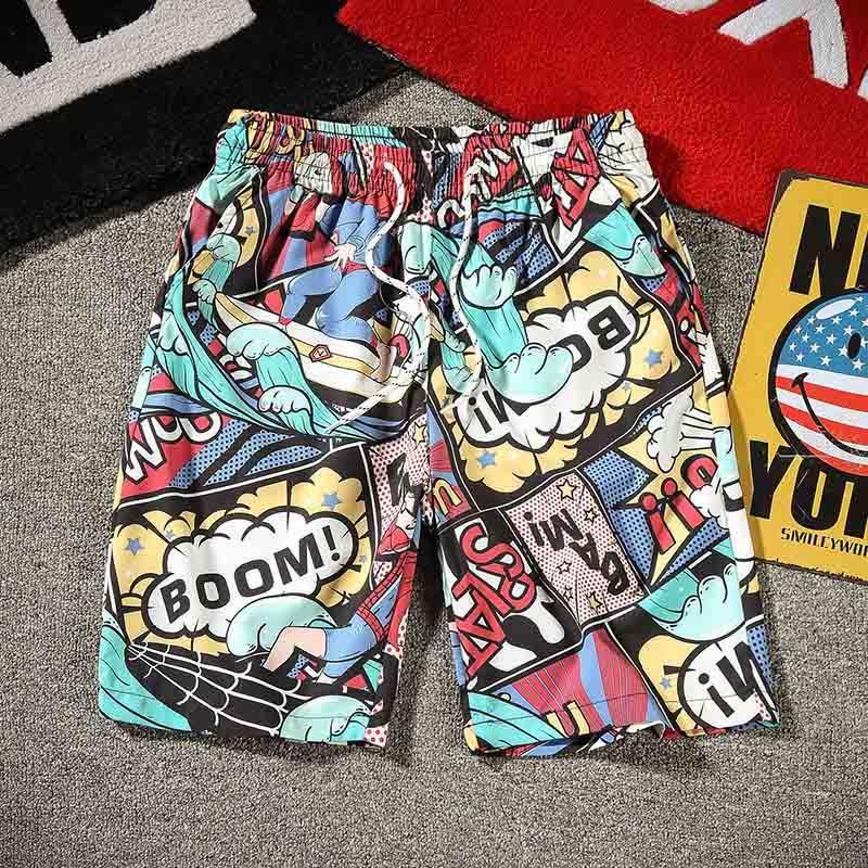 Shorts 2020 New Arrival été Hommes Mode Imprimer Pantalon court mince Casual Hommes en vrac Shorts Quick Dry 9 Styles Taille M-4XL