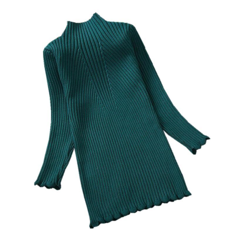 Yaş 2-12 yaşında Çocuk Giyim Sıcak Kalın Sonbahar Kış Uzun Kollu Katı Big Girls Triko Örme Çocuk Pullover Tops