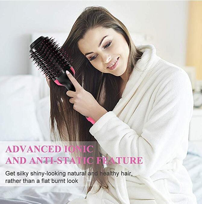 1 Sıcak Hava Brush Bir Adım Saç Kurutma Makinesi ve Şekillendirici Saç Kurutma Fırçası, 3 - Negatif İyon Saç Kurutma Makinesi, Düzleştirici Bigudi