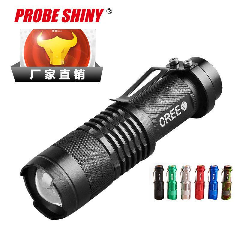 Explorar Luz Lanterna Sk68 Lanterna Carga Led Zoom Chute de longe Torch liga de alumínio Mini- pequena lanterna