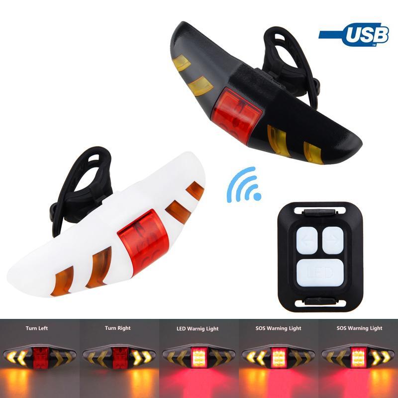 MTB 자전거 무선 원격 제어 미등 LED 경고 램프 스마트 자전거 후면 조명 신호 자전거 라이트를 켜고