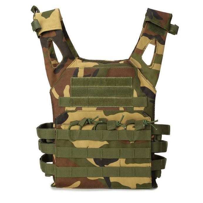 Combate de camuflaje táctico Multicamara Ejército Chaleco Body Armor portador de la placa del chaleco de Airsoft Paintball Gear