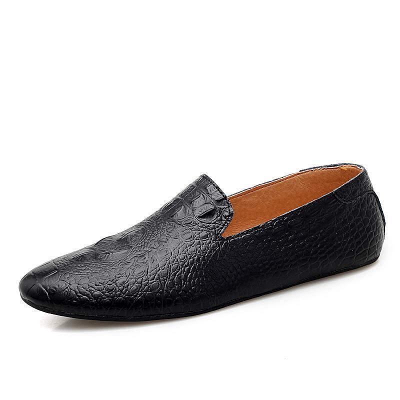 Hommes Mocassins Chaussures En Cuir Véritable Casual Sneakers Mâle Mode Sculpté Bateau Chaussures Doux Robe Parti Chaussures Hommes Conduite Chaussures
