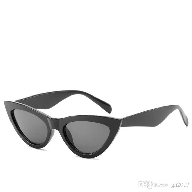 YENI Moda Kadınlar Mizaç Güneş Gözlüğü Küçük Çerçeve Kedi Göz Güneş Gözlükleri Anti-Uv Gözlükler Gözlük Gözlüğü SUN Gözlük A + +