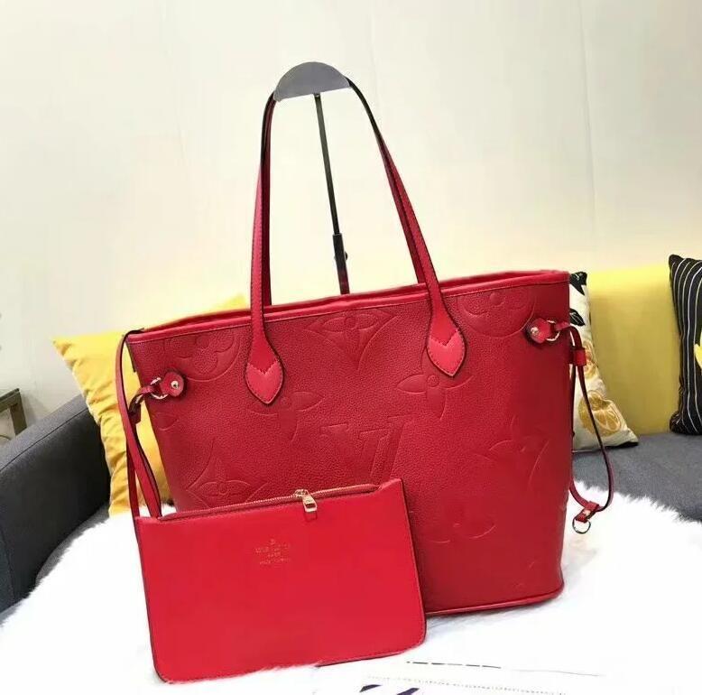 Mulheres Bag Handbag Vintage Casual Tote Moda mulheres mensageiro sacos de ombro Top-Handle bolsa carteira de couro 2020 New Black N026 Azul