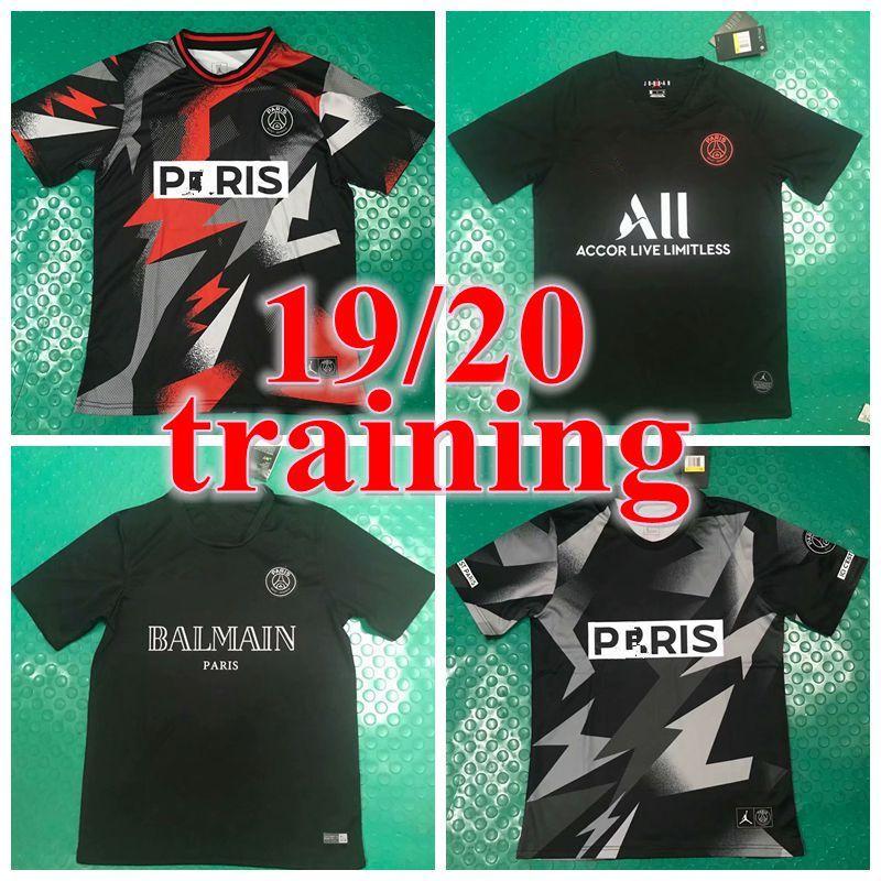 2019 2020 psg soccer jersey 19 20 mbappe VERRATTI CAVANI PSG football shirt survetement maillot de foot Breathe Squad Training Top STRIKE