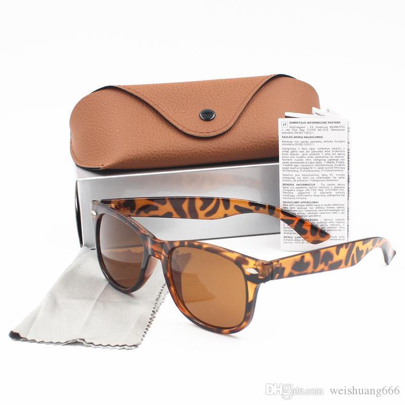 54 мм 2018 Солнцезащитные очки Мужчины Женщины Бренд Глаз Солнцезащитные Очки Зеркальные Линзы Бена Солнцезащитные очки с коробкой