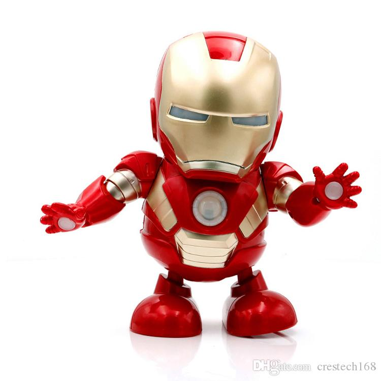 Dancing Robots - DANCE HERO Marvel Fingers Avengers Toys, Dancing Robot Lighting Electric Music Toy with Music Boys Girls Gift