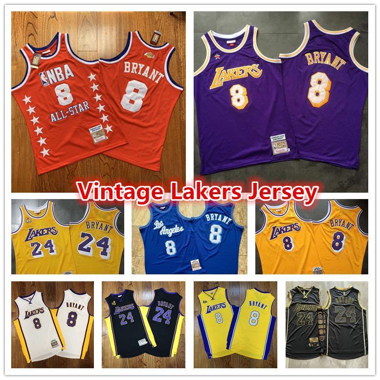 Mens Throwback Authentic Vintage roxo Los AngelesLakersKobeBryantJersey 2008-09 96 60 Swingman Basketball Jerseys