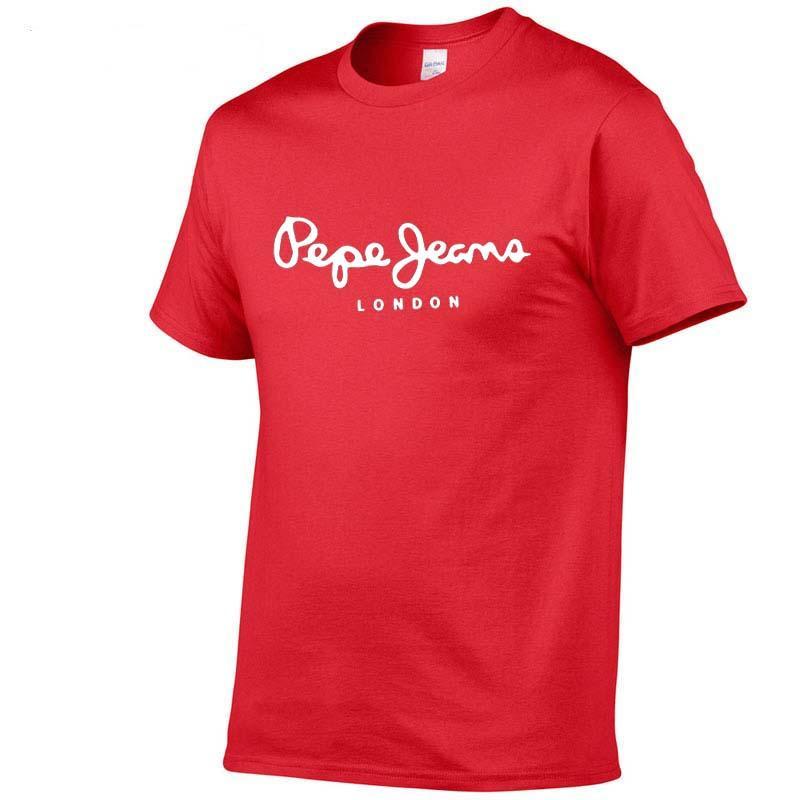 2020 nuova estate semplice selvaggio degli uomini nuova tendenza stampato sport casuali T-shirt 100% della lettera di marca a maniche corte in cotone O-collo stampata T-shirt