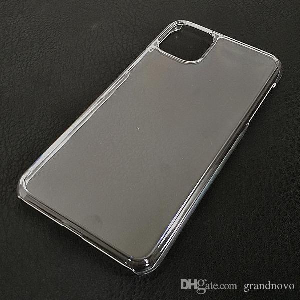Ultra Slim Fina claro transparente de plástico rígido PC Crystal Case Shell capa para o iPhone 12 Pro Max 11 XS XR X 8 7 6 6S Além disso SE 2020 Protective