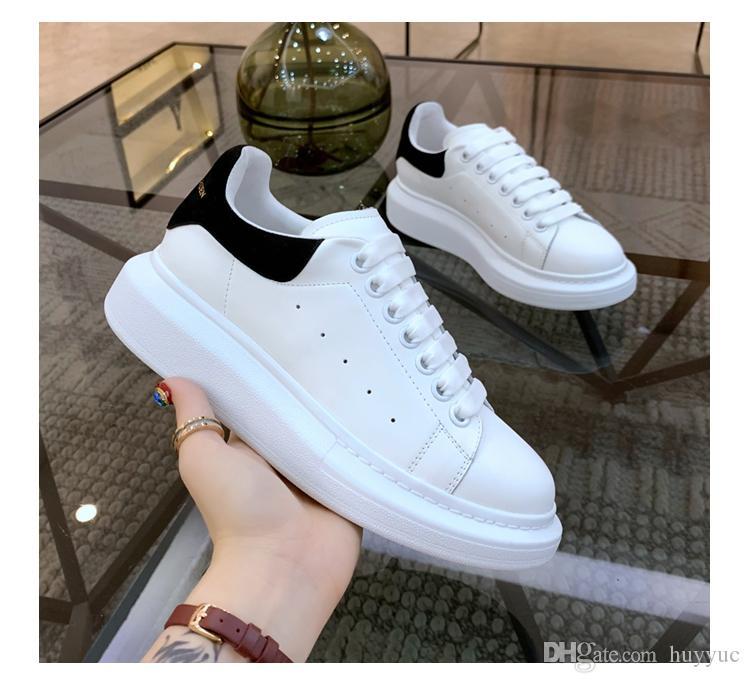 Üst Kalite Erkek Günlük Ayakkabılar Bayan Lazer Kadife Deri Eğitmenler Büyük Boy Sneakers Espadrilles Platformu Ayakkabı Düz Chaussures ile Kutusu