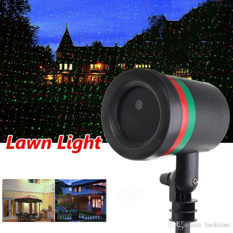 크리스마스 레이저 프로젝터 잔디 램프 야외 풍경 등 무대 RGB 램프 크리스마스 파트 정원 홈 장식 조명을 LED 이동
