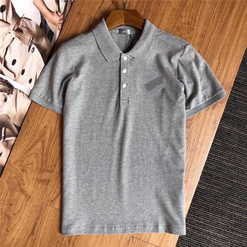 Marka tasarımcı moda erkek giyim kısa kollu tişört yaka POLO gömlek moda rahat konfor pamuk 15