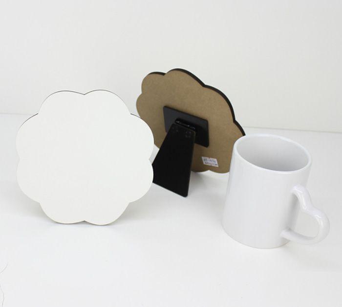 Prensa de calor de sublimación de madera MDF imprimir imagen en blanco en blanco Placa de placa de foto imprima su foto por máquina de sublimación