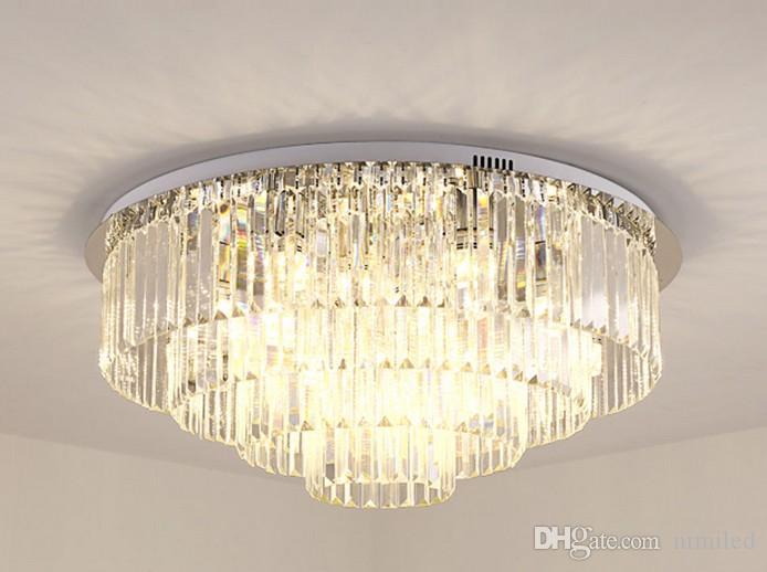 Design moderno 4 camadas de cristal lustre de teto LEVOU luz AC110V 220 v lustre de cristal quarto sala de estar lâmpada LLFA