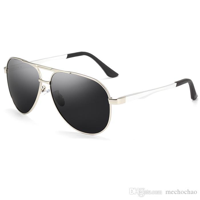 Mann und Frauen Designer Sonnenbrille Männer Sonnenbrille HD Große Legierungsrahmen Polarisierte Marke Fahren Polarisierte Brille Angeln Nachtsicht UV Qwit