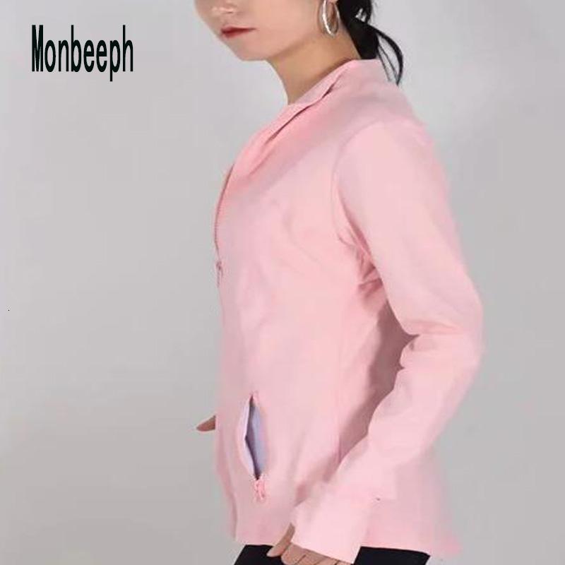 2019 MONBEEPH новый женский основные куртки молния куртка женщины повседневная женская куртка пальто CJ1911109