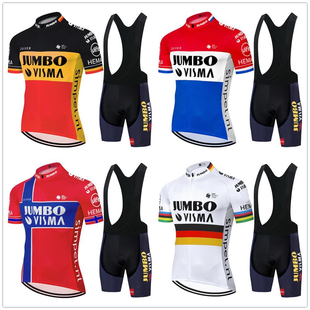 سباق فرنسا 2020 برو جامبو فريق VISMA ركوب الدراجات جيرسي مجموعة الصيف دراجة الملابس MTB دراجة جيرسي مريلة السراويل عدة ملابس Ciclismo