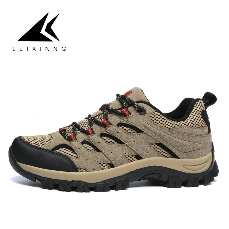 Montagne Stile Classico Large Size 39-46 Scarpe Uomo Trekking Scarpe Lace Up Men Sport Outdoor Trekking da jogging Sneakers Walking Shoe T190920