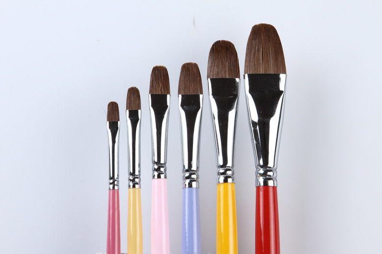 X3-606 Fournitures pour la peinture pinceaux Peinture à l'huile Brosses Dessin Peinture Stylo professionnel Outils Outils filbert Belette Gouache peinture brosses