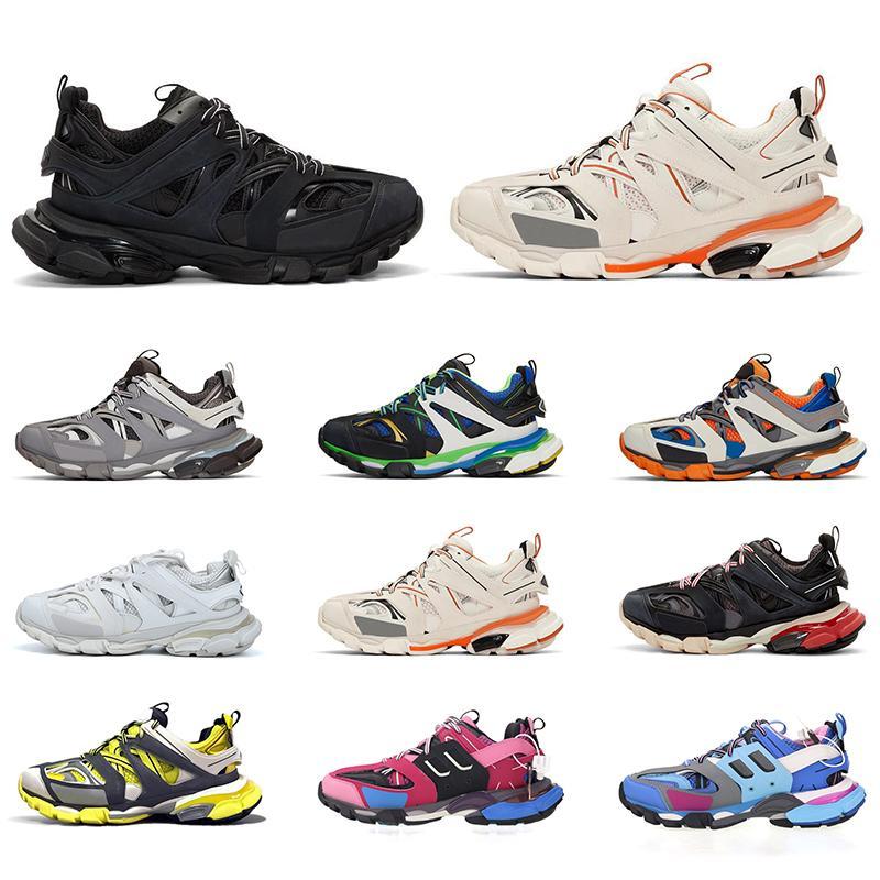 Balenciaga Triple S Traccia 3,0 pattini casuali della piattaforma delle donne degli uomini Triple nero bianco grigio giallo Sport Sneakers Mens Trainers Drop Shipping