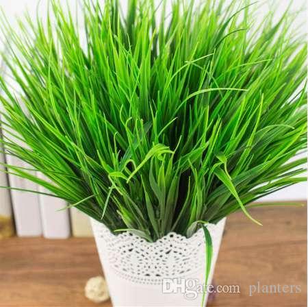 1 조각 녹색 잔디 인공 식물 플라스틱 꽃 가정 결혼식 봄 여름 생활