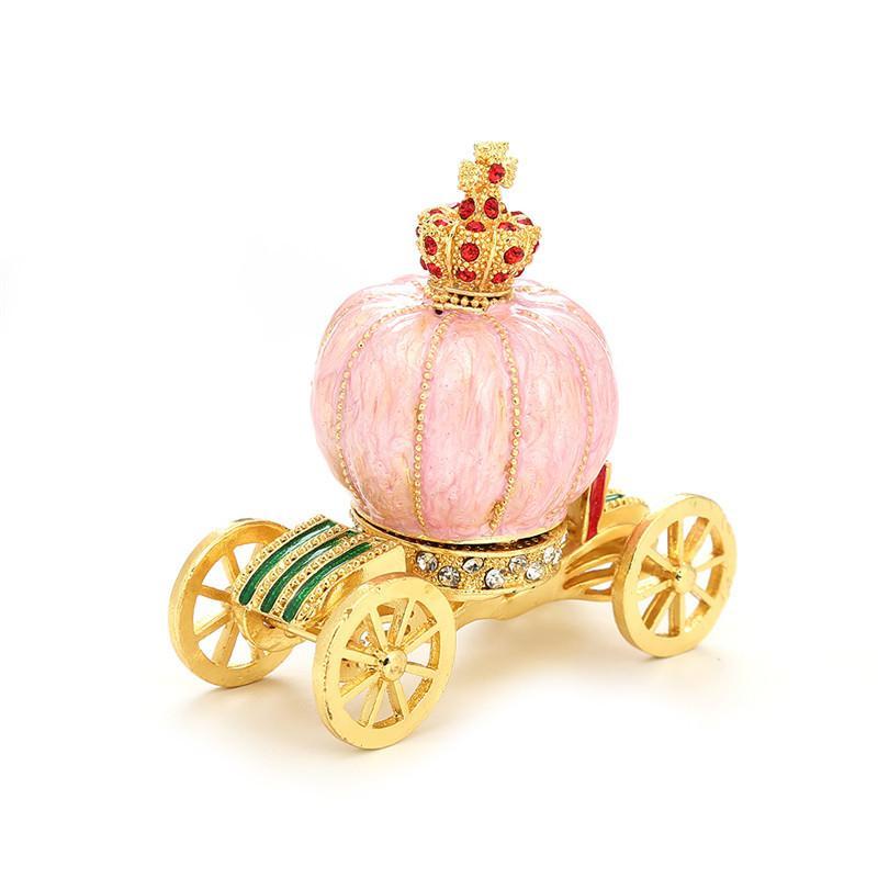 Style européen maison décoration exquise artisanat conte de boîte de décoration de citrouille voiture sertie de diamants fée cadeaux props ornements en gros